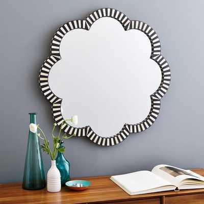Bone Inlay Wall Mirror - Flower - West Elm
