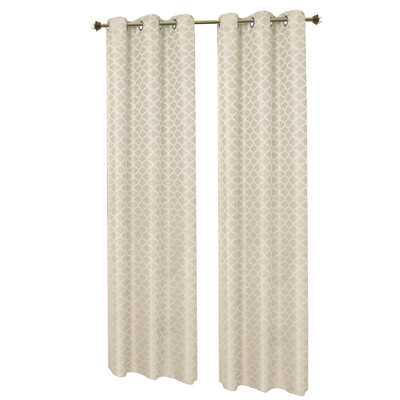 Sonata Woven Lattice Jacquard Grommet Curtain Panel - Wayfair