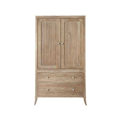 ADDISON WARDROBE WITH POCKET DOORS IN NATURAL - Arhaus