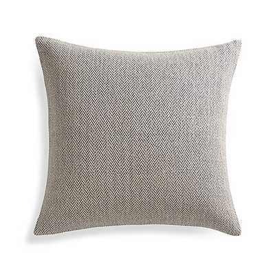 "Mylo Blue 20"" Pillow with Down-Alternative Insert - Crate and Barrel"