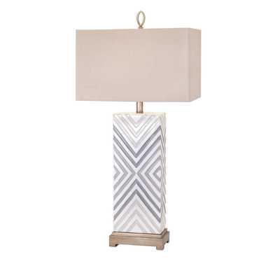 "Lillian 34"" H Table Lamp with Rectangular Shade - Wayfair"