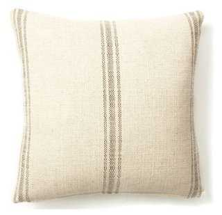 Classic Striped Pillow - 20x20 - With Insert - One Kings Lane