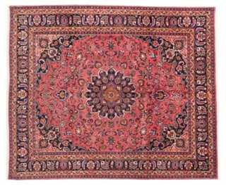 "8'2""x9'7"" Mashad Rug, Red - One Kings Lane"
