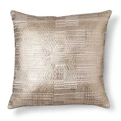 "Threshold Gold Foil Throw Pillow 18""sq. Fill: Polyester - Target"
