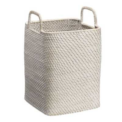 Modern Weave Handled Baskets - Whitewash - West Elm