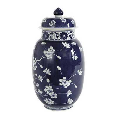 Blue & White Porcelain Vase - Lidded - Ballard Designs