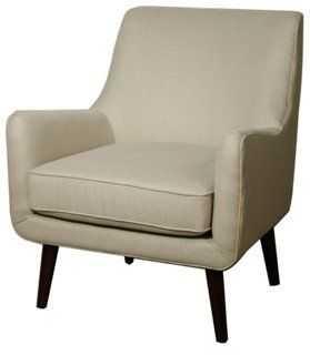 Chloe Accent Chair, Sand - One Kings Lane