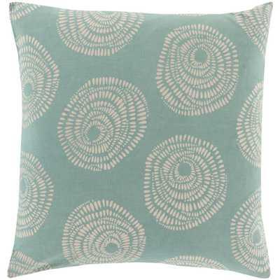 """Cotton Throw Pillow- 18"""" H x 18"""" W x 4"""" D Size- Teal- Polyester fill insert - AllModern"""