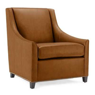 Sweep Leather Armchair - Honey - West Elm