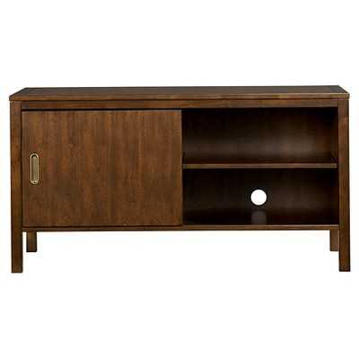 Inspirations by Broyhill Mission Nuevo Collection 4-Shelf TV Console with Sliding Door - Dark Mahoga - Target