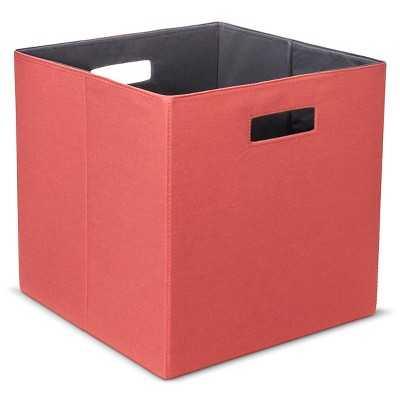 Fabric Cube Storage Bin - Coral - Target