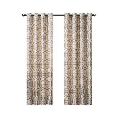 Tribeca Grommet Drape Single Curtain Panel-Gold - AllModern