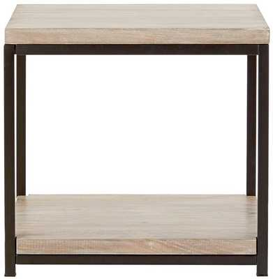 ANJOU END TABLE - White Wash - Home Decorators