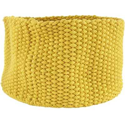 Large Kneatly Knit Rope Bin (Yellow) - Land of Nod