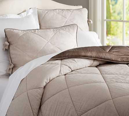 Linen Silk Comforter - Pottery Barn