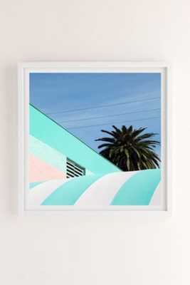 George Byrne Green & White #2 Art Print-20X20-framed - Urban Outfitters