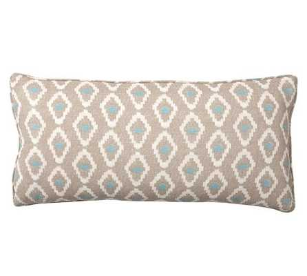 """Diamond Ikat Pillow Cover- Neutral- 12"""" Wx 24"""" L- Insert sold separately. - Pottery Barn"""