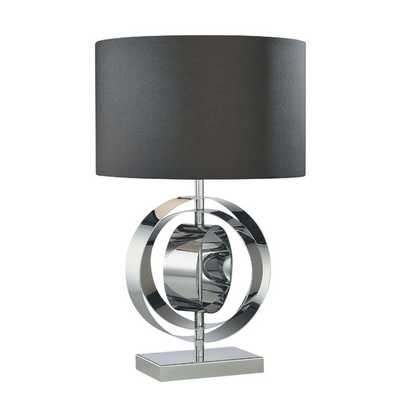"Portable 25.25"" H Table Lamp with Drum Shade - AllModern"