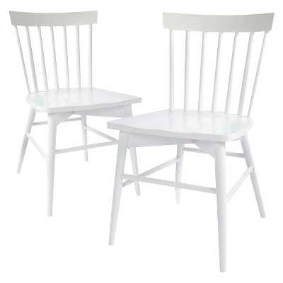 Windsor Dining Chair Wood (Set of 2) - White - Target