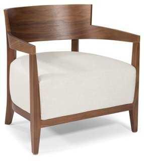 Volta Accent Chair, Cream - One Kings Lane