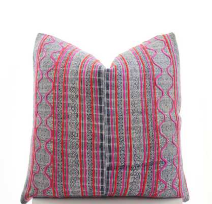 "Hmong Pillow Cover Vintage - 20"" x 20"" - Insert is not included - Etsy"