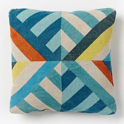 Triangle Stripes Outdoor Pillow - Insert included - West Elm