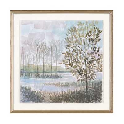 """Quiet Grove Art- Print III- 31""""x31""""- Framed - Ballard Designs"""