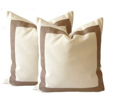 Grograin Throw Pillow Cover - 18x18 - Taupe - No Insert - Etsy
