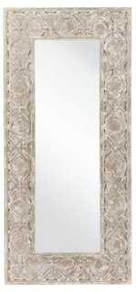 Weathered Floor Mirror, Pewter - One Kings Lane