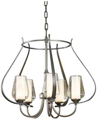 """Hubbardton Forge Flora 22 1/4"""" Wide Seeded Glass Chandelier - Lamps Plus"""