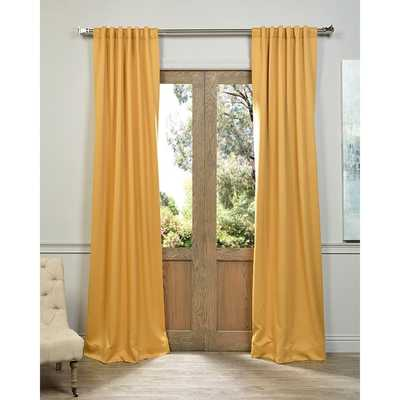 """Marigold Blackout Curtain Thermal Panel Pair - 108"""" - Overstock"""