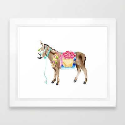 Donkey - framed - Society6
