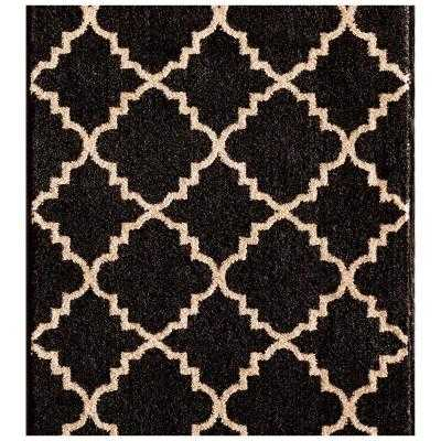 Kurdamir II Taza Onyx/Bone 33 in. x Your Choice Length Roll Runner-Per linear foot - Home Depot