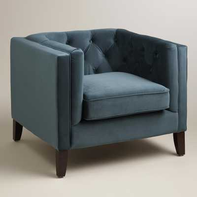Midnight Blue Kendall Velvet Chair - World Market/Cost Plus