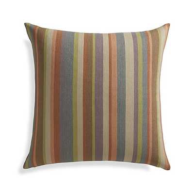 """Gibson 23"""" Pillow with Feather-Down Insert - Crate and Barrel"""