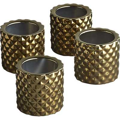 Set of 4 colada tea light candle holders - CB2