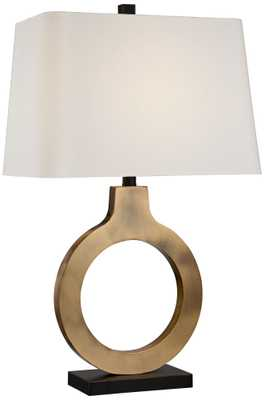 Possini Euro Ivan Brass Ring Table Lamp - Lamps Plus