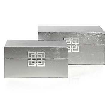 Ming Boxes - Set of 2 - Silver - Z Gallerie