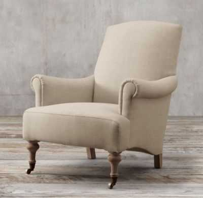 19TH C. ENGLISH SITTING ROOM UPHOLSTERED CHAIR - RH