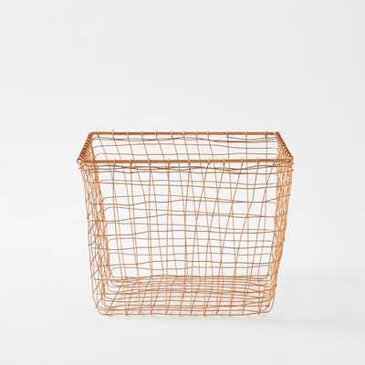 Wire Mesh Basket - Copper - Medium - West Elm