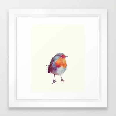 """Winter Robin - 12"""" x 12"""" - Framed - Society6"""