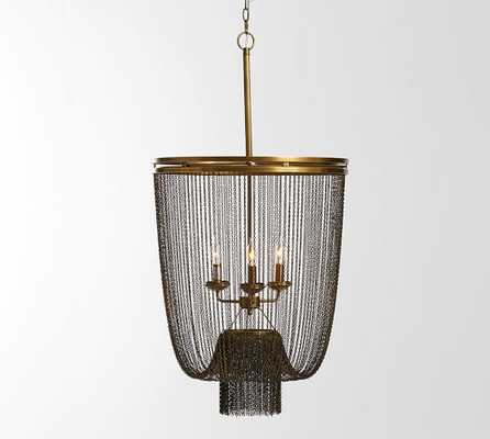 Atherton Chainmail Chandelier - Pottery Barn
