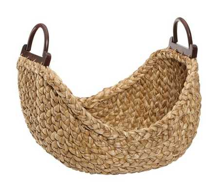 Beachcomber Wood Handled Basket - Pottery Barn