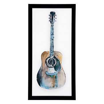 Guitar - framed - Z Gallerie