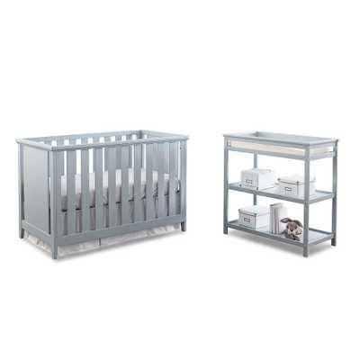 Westwood Design Casey 3-in-1 Cottage Crib and Changer Set - Grey - toysrus.com