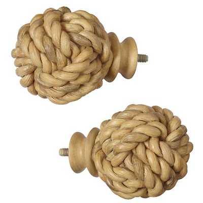 Rope Ball Finials (Set of 2) - Land of Nod