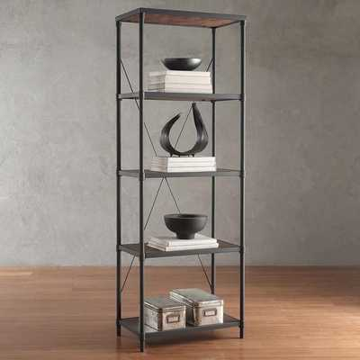 Harrison Industrial Rustic Pipe Frame Shelf Media Tower - Overstock