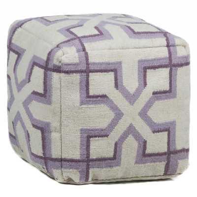 Textured Contemporary Ottoman - Wayfair