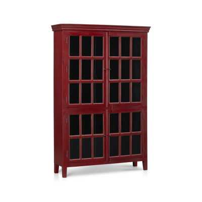 Rojo Red Tall Cabinet - Crate and Barrel