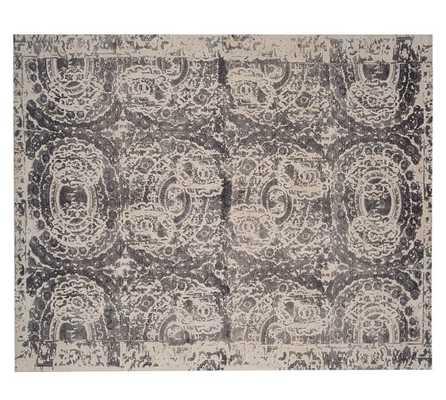 Bosworth Printed Rug - Gray - Pottery Barn